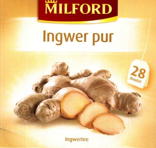 Milford Ingwer pur (nicht aromatisiert) 28 TB, 2er Pack (2 x 56 g Packung)