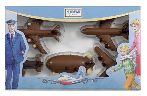 Heilemann Schoko-Flugzeugpackung Edelvollmilch, 1er Pack (1 x 100 g)