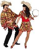 Orlob Mexikanerin Damen Kostüm Mexiko Kleid zu Karneval Fasching Gr.42/44