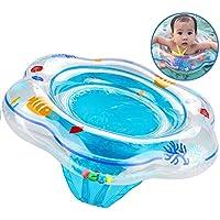 Anillo de natación para bebé, flotador de natación inflable de la piscina del bebé con asiento Ideal para niños Piscina de natación, Flotador de natación para bebé con ajuste de PVC apto para la piel juguetes para niños pequeños Entre 6-36 meses