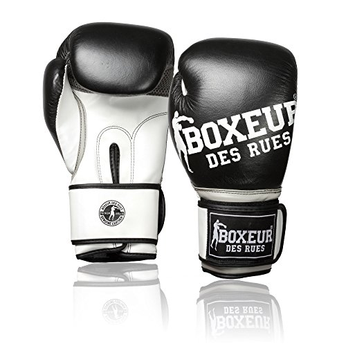 BOXEUR DES RUES Unisex Jugend BXT-5144 Boxhandschuhe für Kinder, Schwarz, 6OZ