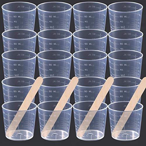 Chougui - Vasos medidores plástico graduado transparente