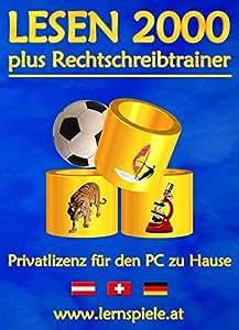 Lesen 2000 plus Rechtschreibtrainer 3.0 - Privatlizenz für den PC zu Hause