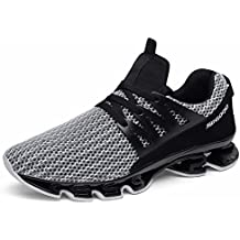 Scarpe da Running Uomo Sport Mesh Slip on Trail Traspirante Runners Fashion  Sneakers Athletic Springblade Walking 8450a75b58c