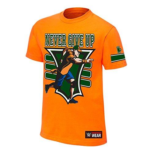 wwe-john-cena-15-x-authentique-t-shirt-pour-homme-orange-xxxxxl