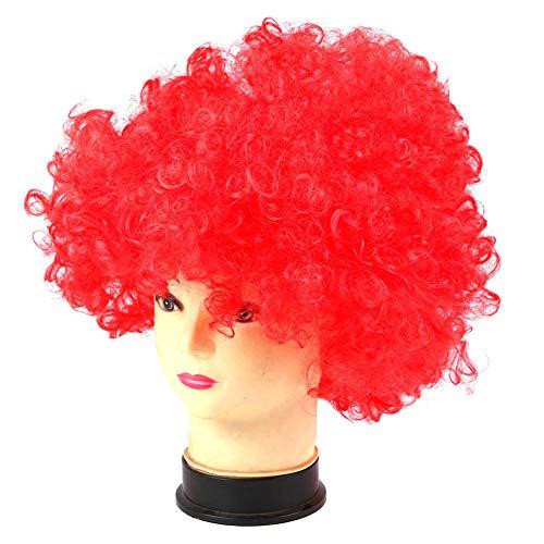 Symbol Clown Disco Kostüm Mädchen Jungen Locken Haar Perücke Erwachsene Kinder Halloween Cosplay Kostüme, rot