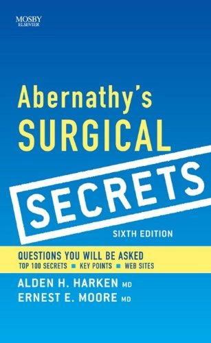 Abernathy's Surgical Secrets E-Book (English Edition)