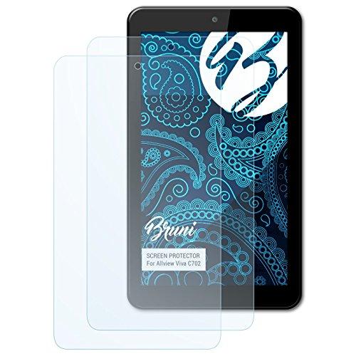 Bruni Schutzfolie für Allview Viva C702 Folie, glasklare Bildschirmschutzfolie (2X)