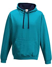 Hawaiian Blue/ Oxford Navy Varsity hoodie, Contrast Pullover Men's Hoodie PLUS 1 T SHIRT with Hooded Top