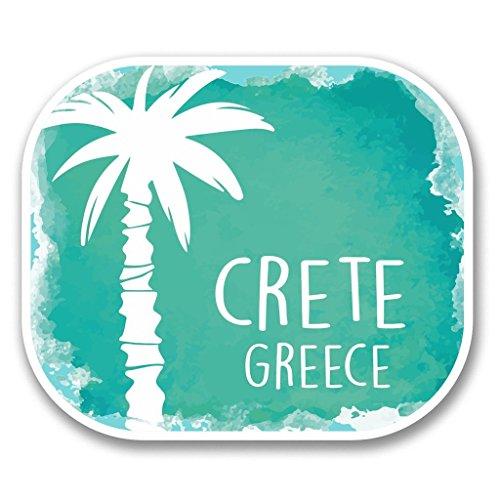 Preisvergleich Produktbild 2x Kreta Griechenland Vinyl Aufkleber Aufkleber Laptop Reise Gepäck Auto Ipad Schild Fun # 6335 - 10cm/100mm Wide