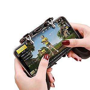 LinHut Bequemer Gamecontroller Mobiler Gamecontroller Gamepad for PUBG, Mobiler Gaming-Auslöser Mit Sensiblen Schießzieltasten L1R1-Auslöser for Smartphones für Freizeit und Unterhaltung