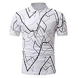 Herren Polo Shirt Hemd Knöpfe Design Halb Cardigans Slim Fit Casual T-Shirt GreatestPAK