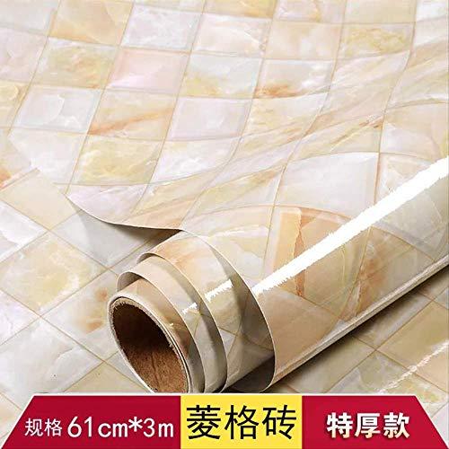 Küche Wasserdicht Ölfeste Selbstklebende Tapete, Tischschrank Dekorative Tapete, Kühlschrank Film Möbel Aufkleber Farbe Renovierung Diamond Brick