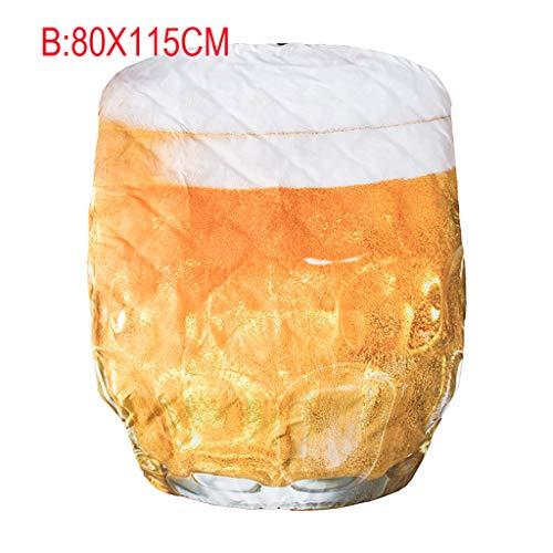 VNEIRW Sommer Steppdecke, leichte Steppdecke Atmungsaktiv Kochfest, Decke für den Sommer Soft Touch, 3D Bier, Getränke Drucken Sommerdecke angenehm (80X115CM) (Leichter Bier)