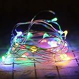 HEIFEN Globale LED Sterne Lichter Batterie Lichter Blinklichter Rote Lichterketten 10 Meter 100 Lichter Warme Farbe Raumdekoration Vorhänge Weiß Garten Hause