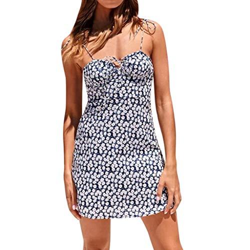 cinnamou Damen Ärmelloses Beiläufiges Strandkleid Sommerkleid Tank Kleid Slim Sling Weste