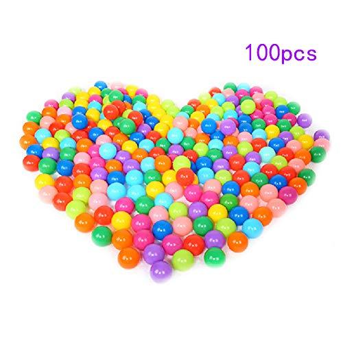 Hengbaixin, 100 palline colorate per bambini, giocattolo divertente in plastica morbida, per piscina, giochi all'aperto, diametro 4 cm