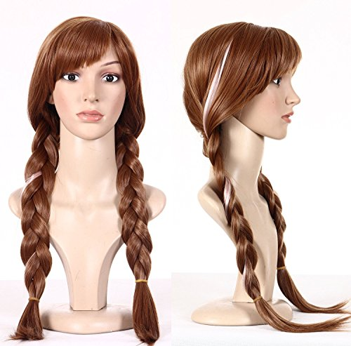 EBASE Anna Cosplay Wig, Cosplay Wig, Brown Long and Curly Hair Wig (Anna Wig Brown) by EBASE