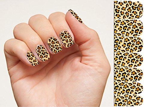 Nagellack Streifen Nagelkunst Aufkleber Leopard Nagelaufkleber