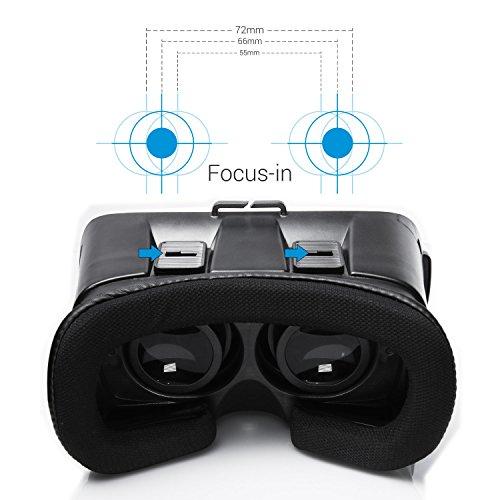 'umidigi 3d Vr Brille Virtuelle Realität VR Box 6verstellbare Linsen und Gurt für Smartphone zwischen 4.0