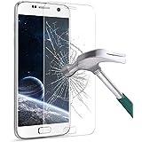 Couverture Complète Samsung Galaxy S7 Verre Trempé,Mture Protection d'écran en Verre Trempé [Compatible 3D Touch] 0,33mm et Ultra Résistant Indice Dureté 9H Écran de Protection pour Galaxy S7-1 pack (Transparent)