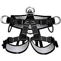 Medio Cuerpo Leggings Cintura Cinturón De Seguridad Profesional Rescate Roca Escalada Rescate Aéreo Trabajo Cueva Aire Libre Cinturón,Black,OneSize