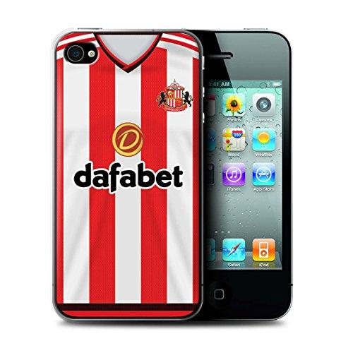 Offiziell Sunderland AFC Hülle / Case für Apple iPhone 4/4S / Larsson Muster / SAFC Trikot Home 15/16 Kollektion Fußballer