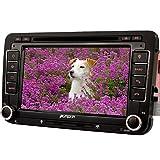 PUMPKIN 2 Din Autoradio DVD Player Moniceiver mit GPS Navigation 7 Zoll Touch Screen für Jetta Golf Passat Polo Beetle Touran Bluetooth unterstützt Freisprechfunktion CanBus CD Lenkradsteurung