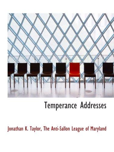 Temperance Addresses
