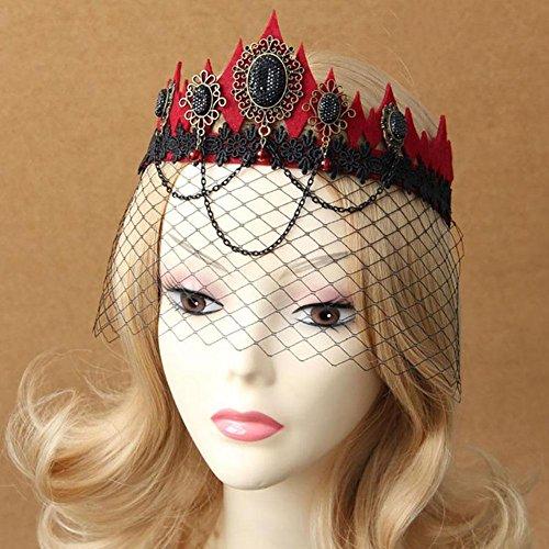 gstone, Kostüm-Zubehör, mit Haarband, Tiara, für Hochzeit, Blumen-Design, -