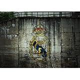 Poster ARTE REAL CR7 DEL GRAFFITI DEL LOGOTIPO DE MADRID