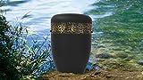 Biologisch abbaubar Verbrennung Asche Beerdigung Urne/Casket–Erwachsene Größe–Hand geschlagen Gold Deko Band Effekt