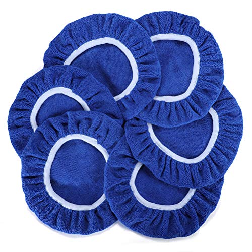 AUTDER - Set di copricerchi in Microfibra per Auto, 6 Pezzi, Colore Blu