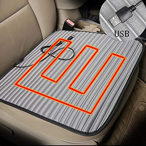 Beheizbare Sitzauflage Auto - ZATOOTO Heizauflagen USB, Warm Sitzpolster für den Winter, Universeller Einsatz in Auto, Büro, Zuhause, rutschfest, Comfortabel