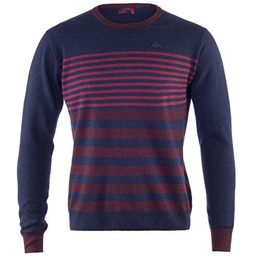 Robe Di Kappa - Maglia Pullover Uomo Lana Girocollo Barca Sport Slim Art. Righe - Colore: Multicolore Rosso - S