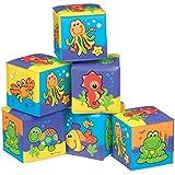 Playgro - Cubos divertidos de baño, 6 unidades (0181170)