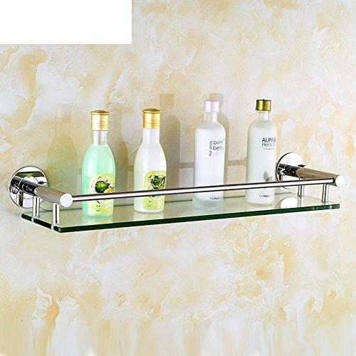 In acciaio inox bagno mensola in vetro/Cosmetici
