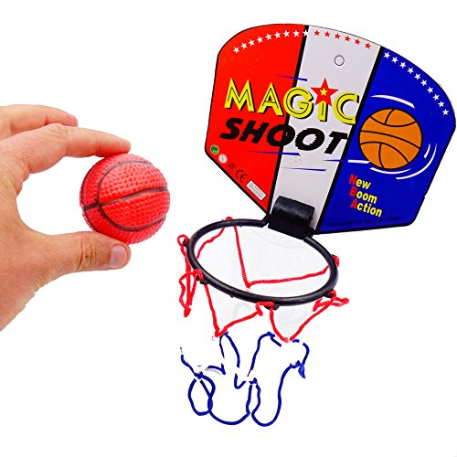 German Trendseller® - 6 x Mini Basketball Set - Preis HIT - ┃ Mitgebsel ┃ Kindergeburtstag ┃ Sport ┃ 6 Stück