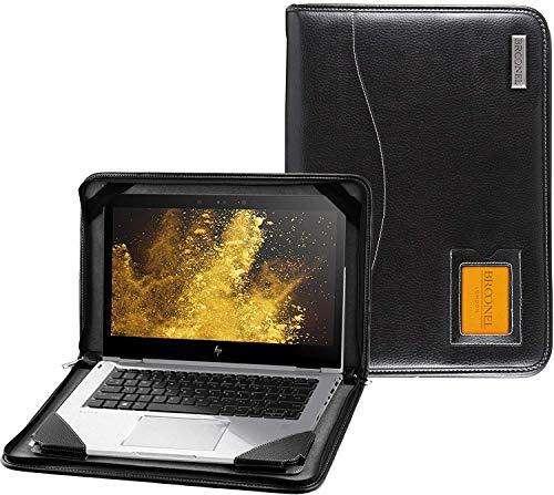 "Broonel - Contour Series - Schwarz Leder Laptop Fall/Hülse Kompatibel mit dem HP EliteBook 1050 G1 15.6"" 4K UHD Laptop"