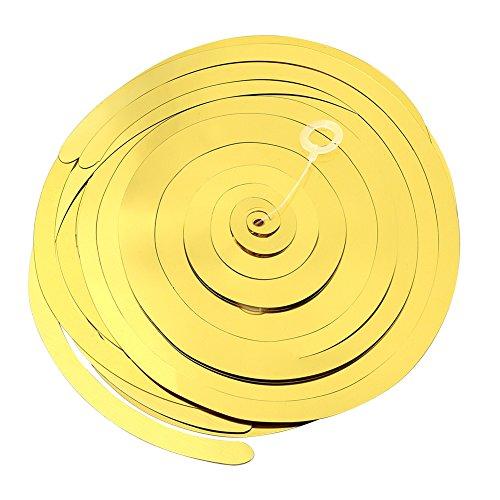 tstoff Hängenden Folie Swirl Dekorationen Weihnachten Geburtstag Graduation Hochzeit Party Supplies mit Haken 6 Farben Optional (Rot / Blau / Grün / Gold / Silber / Rosered)(Gold) (Party Supplies For Graduation)