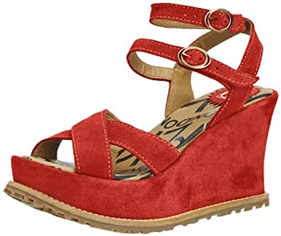 Fly London Womens Eary Fashion Sandals P143106002 Red/Red 7 UK, 40 EU