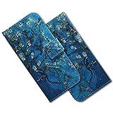MRSTER LG Q60 Hülle Leder, Langlebig Leichtes Klassisches Design Flip Wallet Case PU-Leder Schutzhülle Brieftasche Handyhülle für LG Q60 / LG K50. EF PU- Blue Almond