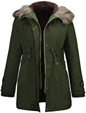 Huihong Damen Parka Winter Lamm Kaschmir Langarm Im Freien Warme Reißverschluss Jacke Fell Kapuze Mantel Trend Farben Windjacke