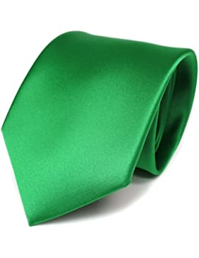 TigerTie - diseñador lazos de satén verde verde fluorescente monocromo