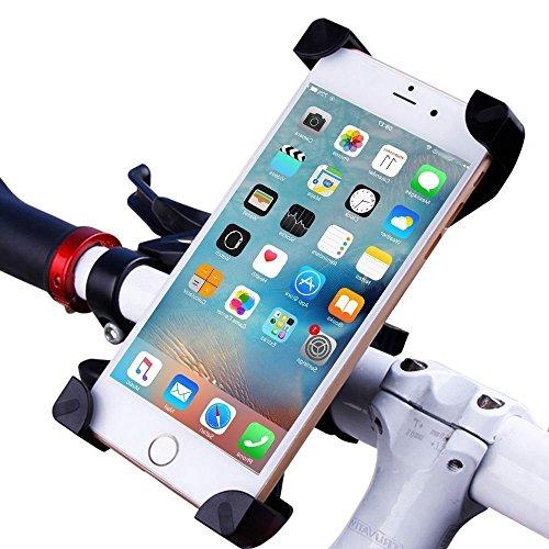 sanniya Handyhalter, Fahrradhalterung, Universal Handy Fahrradlenker & Motorradhalter Cradle mit 360 Drehen für iPhone und Alle Android-Handy Google Nexus 5 4 und GPS-Ger?t bis zu 3,7 Zoll breit
