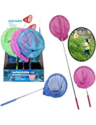 Kids Butterfly Fishing Net Childrens Insect Catch Mesh Fish Extendable Pole Sea