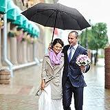 Pataele Regenschirm Taschenschirm, Auto Öffnen und Schließen für Einhandbedienung, Größere 210T Teflon Wasserdichte Überdachung, 10 Rippen Winddicht - 8