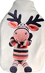 Vagabond Bags Ltd Sock Moose 2 Litre Hot Water Bottle and Cover