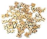 Holzschmuck | Holzfiguren | Kinderspielzeug | Basteln für Kinder | 67-Teile | Basteln | ABC | Buchstaben | Tiere | GRATIS VERSAND | 100% aus Österreich