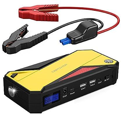 DBPOWER Jump Starter 18000mAh 600A, Arrancador Portátil para Coche, Cargador de Batería Externa con Linterna LED para Laptop, Smartphone y Tablet